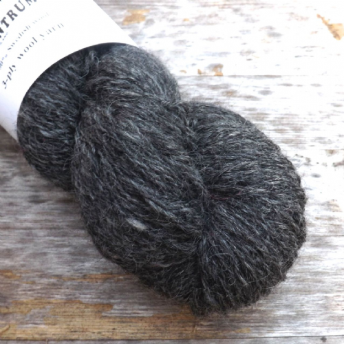 Ullcentrum Solids 3-ply - Natural Dark Grey